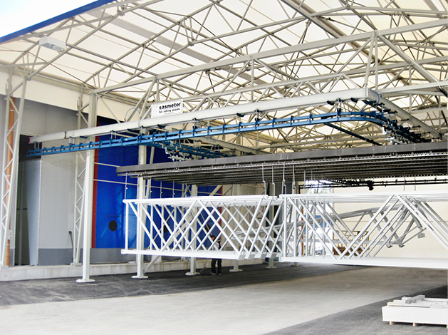 Automatic, semi-automatic and manual conveyor systems for painting plant use
