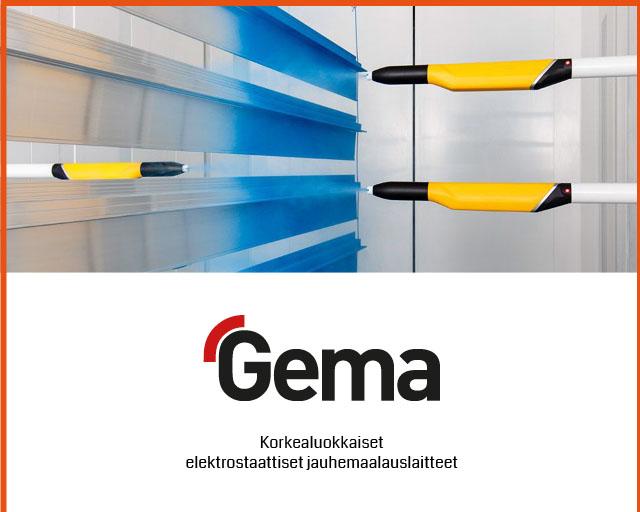 Elektrostaattiset Gema-jauhemaalauslaitteet