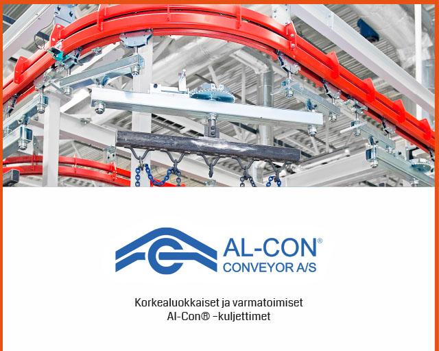 Al-Con-kuljetinjärjestelmät maalaamojen tarpeisiin