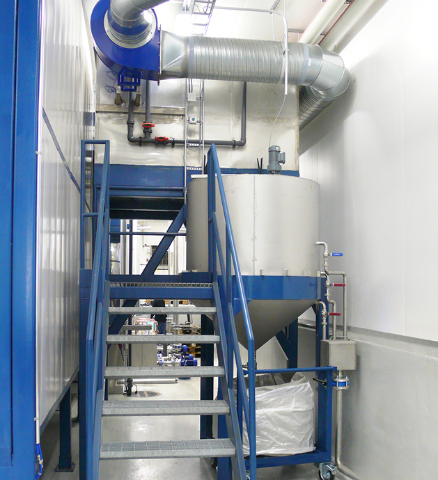 Waste water treatment units for painting plant washing lines