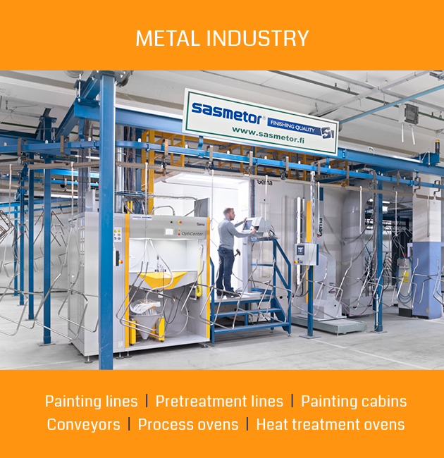 Pretreatment and painting lines for metal industry