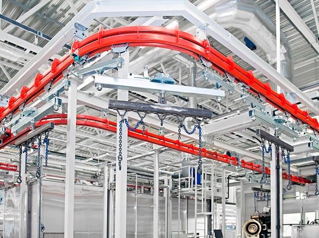 Power & Free –conveyr systems for flexible and efficient painting plant use