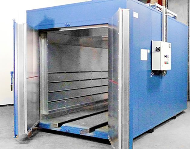 Industrial ovens for paint drying, polymerization and process use