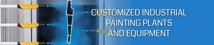 Customized industrial painting plants and painting devices