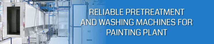 Reliable pretreatment and washing machines for painting plant use
